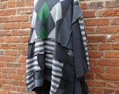 Upcycled Sweater,Patchwork Sweater,Boho Sweater,Size 3X-4X,Nine Muses Of Crete
