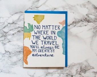 Funny Valentine's Day Card. Funny Anniversary Card. Travel and Adventure