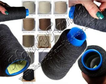 Yak Down yarn Baby Yak. Yarn for Hand Knitting or machine knitting. Natural Yarn. Lace wool yarn. Italy yarn. Cone yarn. Color choice DSH