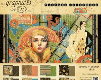 """Graphic 45 """"Vintage Hollywood"""" 8x8 Pad"""