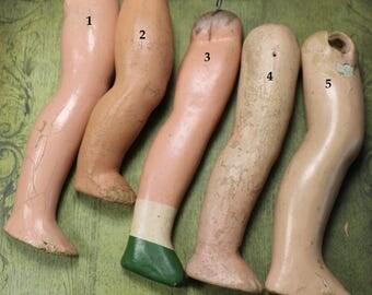 1 Vintage Composition Doll Leg