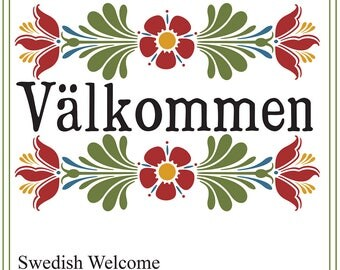 how to say welcome in swedish