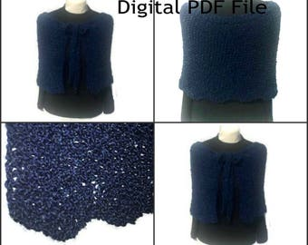 Outlander Gathering Shawl PDF Pattern Claire's Knitting Pattern Inspired Sassenach PDF File Is not a finished product.