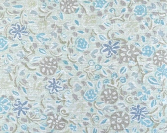 Pastel Floral Textured Fabric 100 Percent Polyester, Fabric by the Yard