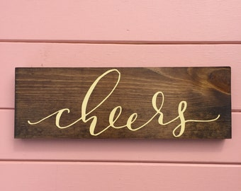 Cheers - Gift for Wine Lover - Housewarming Gift - Home Decor - Rustic Home Decor
