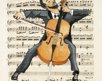 The Cellist - giclee print
