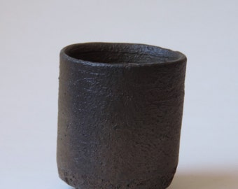 Wood Fired Tea Cup, Yunomi Reduction Cooled Local California Clay, #618