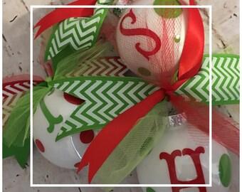 Personalized Christmas Ornaments - Hostess Gift - Bestie Gift - Party Favors - Christmas Balls - Secret Santa Gift - Christmas Swap Gift
