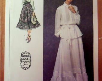 GUNNE SAX Pattern • Simplicity 8907 • Miss 6 • Victorian Inspired • Steampunk Blouse & Skirt Pattern • Vintage Patterns • WhiletheCatNaps