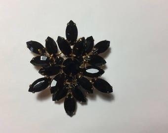 Vintage Black Stone Pin by REGENCY
