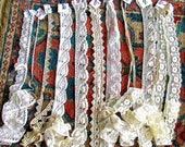 Group Two 1930s Hand Made and Machine Lace Yardages 25 plus Yards