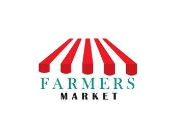 Business Logo design, customizable Pre-made OOAK modern logo design - market logo
