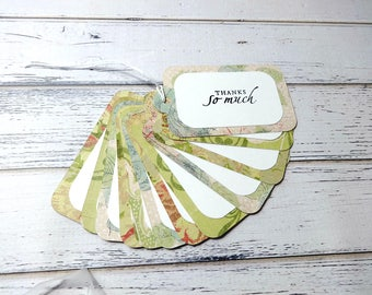 Gift Tags, Gift Tag Set, Assorted Tags, Tags, Paper Tags, Thank You Tags, Order Tags, Hanging Tags, Set of 12 Large Tags, Thanks So Much