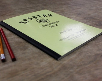 "Spartan Composition Notebook - 40 Page - Ruled - 8 1/2"" x 6 7/8"" - Vintage Notebook - FREE SHIPPING"