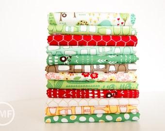 Farm Fun Half Yard Bundle, 12 Pieces, Stacy Iest Hsu, 100% Cotton, Moda Fabrics, 20530
