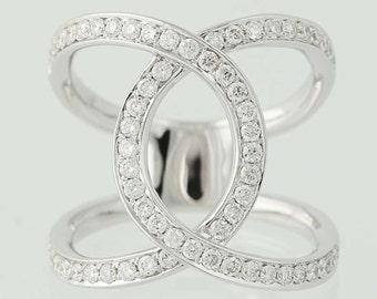 Diamond Ring - 14k White Gold .73ctw N4110