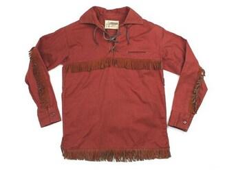 1950's Kids Davey Crocket Fringe Shirt