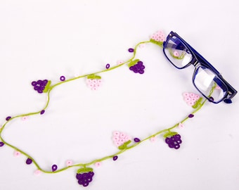 Eyeglass chain ,Reading Glassess Holders ,turkish oya eyeglass chain ,sunglasses Holder