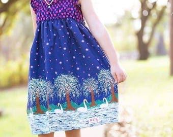 Swan Lake   Shirred Dress (2T, 3T, 4T, 5, 6, 7, 8, 10 )