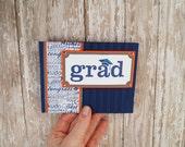 Handmade Graduation Card - High School Graduation - Grad Card Messages - Navy Card - Card for Graduate - Card For Him - Card For Her