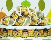 "7/8"" Turkey Thanksgiving Grosgrain Ribbon"