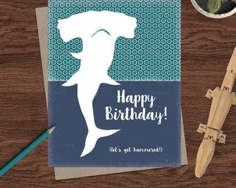Funny Birthday Card / Birthday Card / Birthday Greeting Card / Adult Humor Birthday Card / Birthday Card for Friend / Funny Birthday Shark