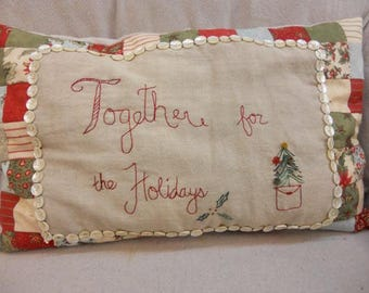 Holidays Together (a pillow) kit...designed by Mickey Zimmer