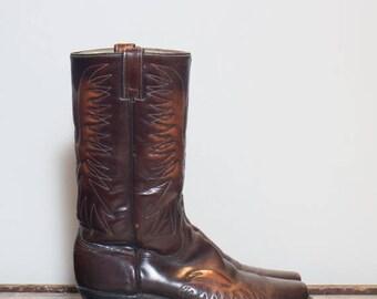 30% OFF 9 1/2 D | Men's Vintage Wrangler Thunder Bird Cowboy Boots Fancy Stitch Boot