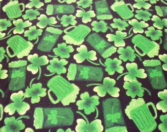 St. Patrick's Day Fabric Green Beer By The Fat Quarter New BTFQ