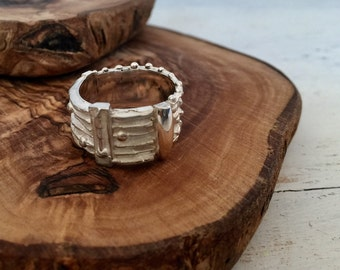 Quirky Silver Texture Ring