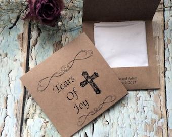 Cross Tears of joy  tissue packs set of 25