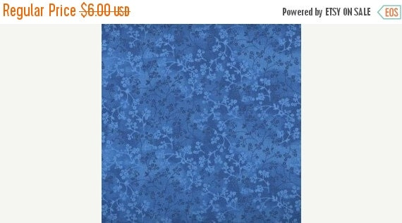 """Turquoise Flower Fabric,Blue Tone on Tone Fabric,Turquoise Tonal Fabric,100% Cotton Fabric,Quilt Fabric,Apparel,Craft,END OF BOLT 18"""" x 44"""""""