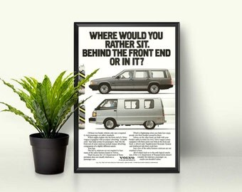 80s Car Ad • Volvo in the 90s • Crash Test Advert • Blocky 80s Cars • Car Enthusiast Gift • Volvo Cars • Car Safety Ad • Vintage Volvo Page
