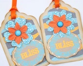 BLISS Handmade Gift Tags Set of 2 (One of a kind)