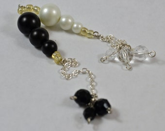 Pendulum:  Crystal Dangles w/ Glass Pearls