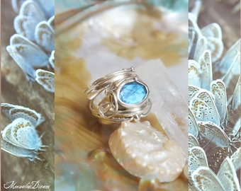 Atlantian Blue Reflections Silver Ring