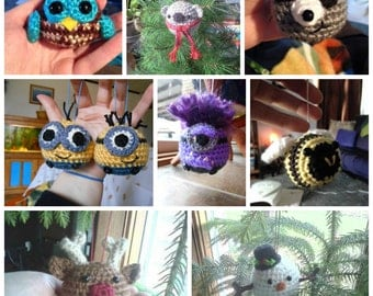 Christmas Ball Character Ornaments- MADE to ORDER