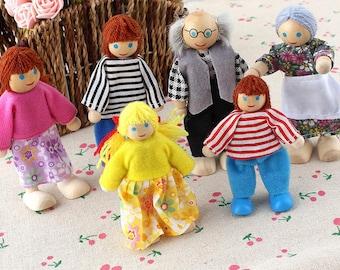 Family Small Dolls 6 pcs
