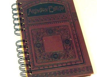 1889 LIFE OF BEECHER Handmade Journal Vintage Upcycled Book Philosophy Journal