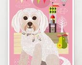 Minnie,  little dog, print