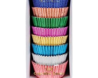 Metallic Foil Cupcake Cases