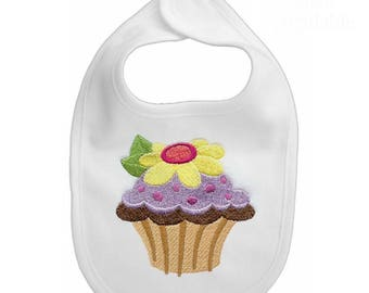 Sweet Treats 3 - Your choice of 1 embroidered baby bib