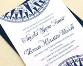 Nautical Wedding Invitation, Compass Wedding Invitation Set, Nautical Wedding Invitations