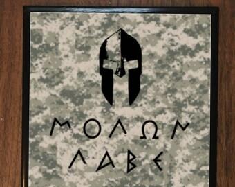 Molon Labe Ceramic Tile Coasters