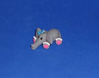 Polymer Clay Lying Elephant