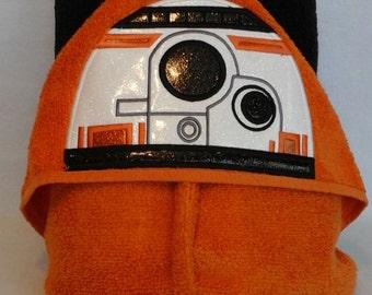 Robot B Star Wars Robot Hooded Towel