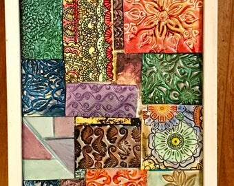 Long Colorful Polymer Clay Mosaic