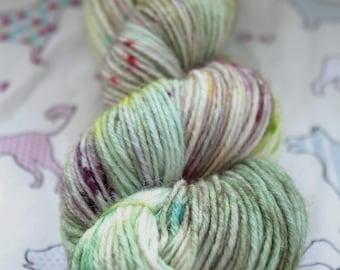 Hand dyed yarn, DK, 100gms. Wool & Nylon blend.