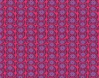 15080- Anna Maria Horner PWTC002 True Colors Crescent Bloom in Ruby color- 1 yard