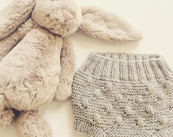 wool hand knitted popcorn bloomers